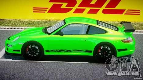 Porsche 997 GT3 RS para GTA 4 Vista posterior izquierda