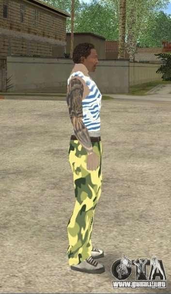 CJ VDV para GTA San Andreas tercera pantalla