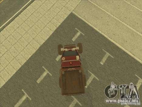 Wingy Dinghy v1.1 para GTA San Andreas vista hacia atrás