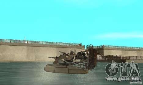 HL2 Airboat para GTA San Andreas vista posterior izquierda