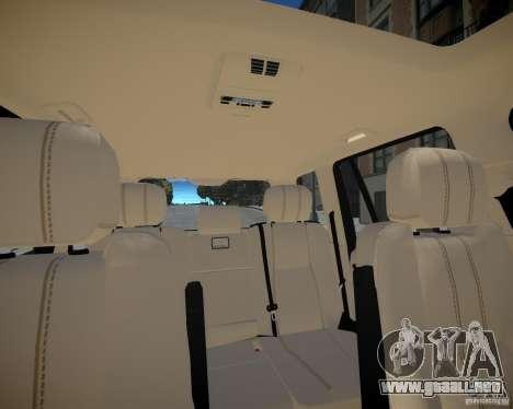 Land Rover SuperSharged para GTA 4 vista superior