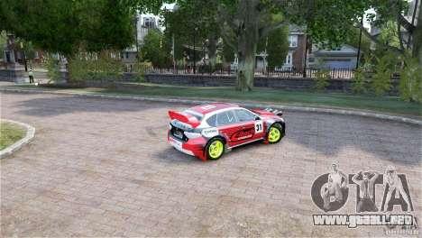 Subaru Impreza WRX STI RALLYCROSS Eibach Springs para GTA 4 Vista posterior izquierda