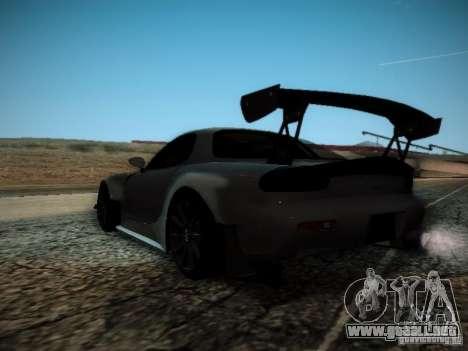 Mazda RX7 Drift para GTA San Andreas vista posterior izquierda