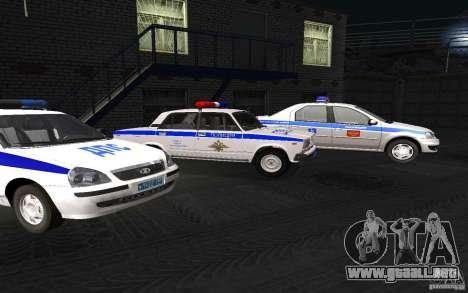 Coche de policía VAZ 2107 DPS para la visión correcta GTA San Andreas