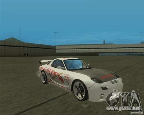 Mazda RX-7 weapon war para GTA San Andreas vista hacia atrás