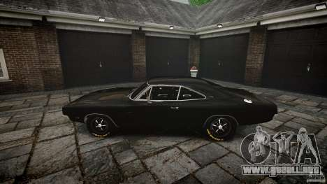 Dodge Charger RT 1969 para GTA 4 vista superior
