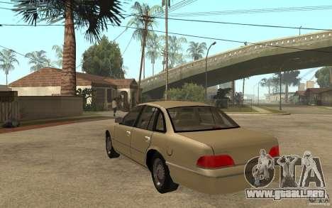 Ford Crown Victoria LX 1992 para GTA San Andreas vista posterior izquierda
