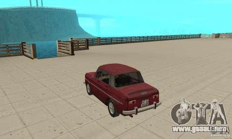 Dacia 1100 para GTA San Andreas vista posterior izquierda
