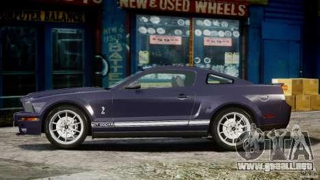 Shelby GT500KR 2008 para GTA 4 vista interior