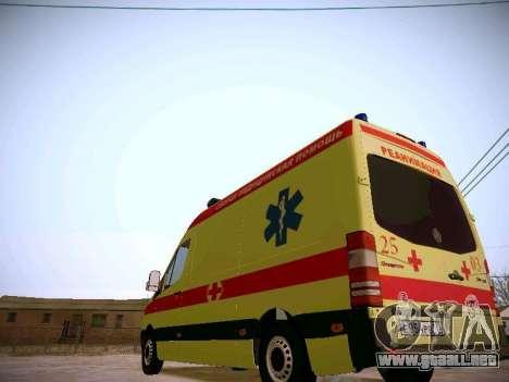 Mercedes Benz Sprinter Ambulance para GTA San Andreas vista hacia atrás