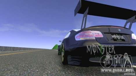 BMW M3 Monster Energy para GTA 4 Vista posterior izquierda