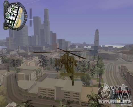 iCEnhancer beta para GTA San Andreas sucesivamente de pantalla