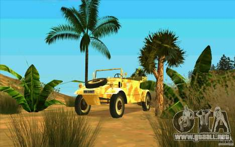 Kuebelwagen v2.0 desert para GTA San Andreas vista hacia atrás