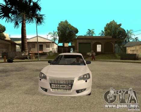 Siber Volga GAZ en 2,5 para GTA San Andreas vista hacia atrás