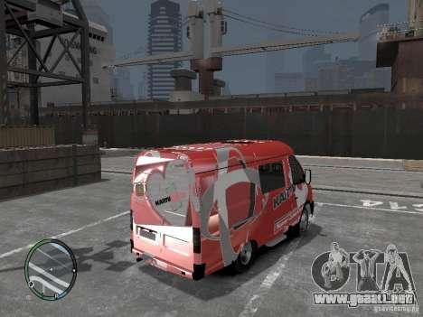 Gacela 2705 Telkomsel Van para GTA 4 Vista posterior izquierda