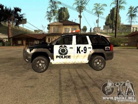 Jeep Grand Cherokee police K-9 para GTA San Andreas left