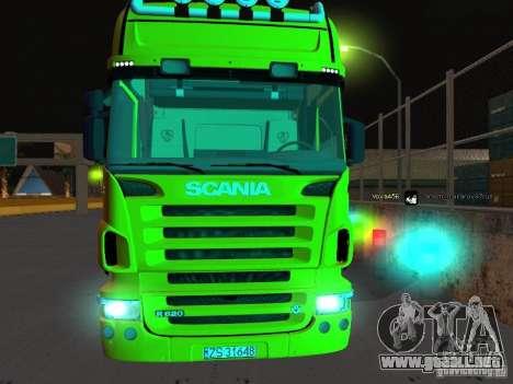 Scania R620 para GTA San Andreas vista hacia atrás