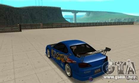 Nissan Silvia INGs +1 para GTA San Andreas vista posterior izquierda