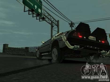 DeLorean BTTF 2 para GTA 4 Vista posterior izquierda