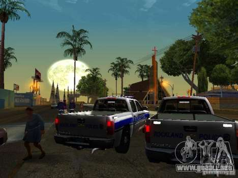 Chevrolet Silverado Rockland Police Department para la visión correcta GTA San Andreas