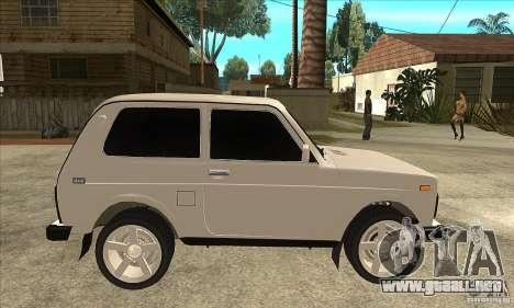 VAZ 21213 NIVA teñido para GTA San Andreas vista hacia atrás