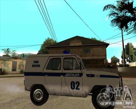 UAZ 31514 patrulla para la visión correcta GTA San Andreas