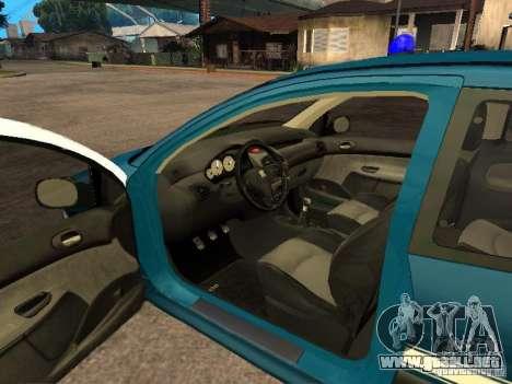 Peugeot 206 Police para GTA San Andreas vista posterior izquierda