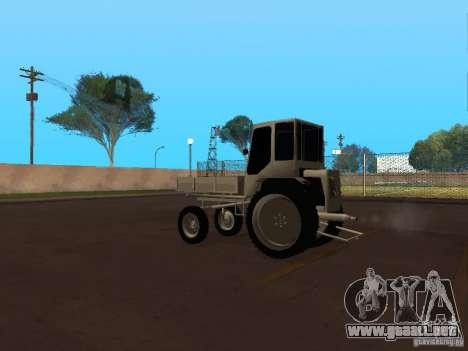Tractor T16M para GTA San Andreas vista posterior izquierda