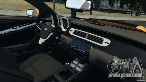 Chevrolet Camaro ZL1 2012 para GTA 4 Vista posterior izquierda