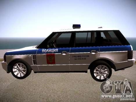 Range Rover Supercharged 2008 policía Departamen para GTA San Andreas left