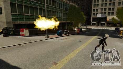Fuego en las manos de Geralt para GTA 4 segundos de pantalla