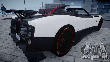 Pagani Zonda Cinque Roadster para GTA 4 visión correcta