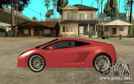 Lamborghini Gallardo LP550 Valentino Balboni para GTA San Andreas left