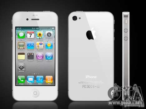 IPhone 4 g blanco para GTA San Andreas