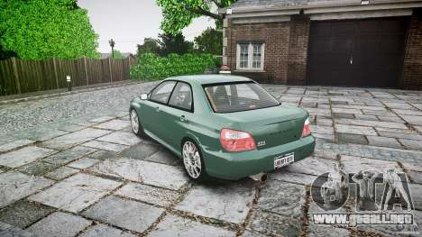 Subaru Impreza v2 para GTA 4 Vista posterior izquierda