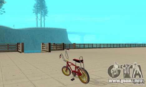 CUSTOM BIKES BMX para GTA San Andreas vista posterior izquierda