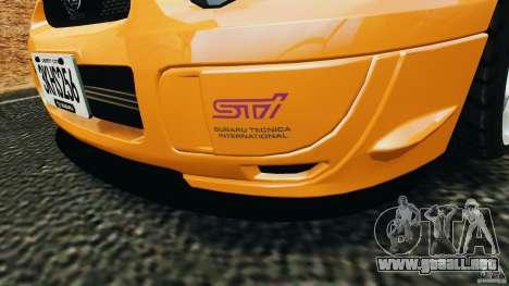 Subaru Impreza WRX STI 2005 para GTA 4 ruedas