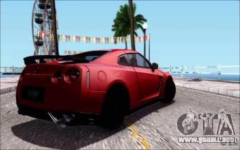 Nissan GTR 2011 egoísta (versión con suciedad) para vista lateral GTA San Andreas