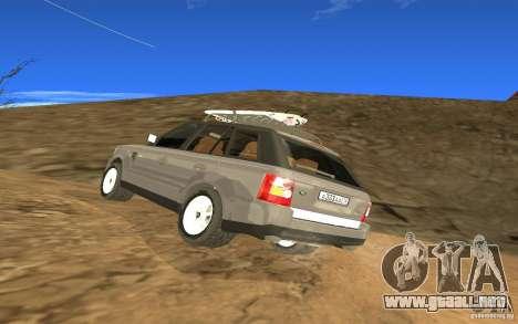 Land Rover Range Rover para GTA San Andreas vista posterior izquierda