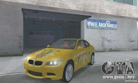 BMW M3 E92 Stock para vista inferior GTA San Andreas