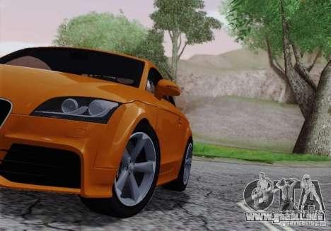 Audi TT-RS Coupe para visión interna GTA San Andreas