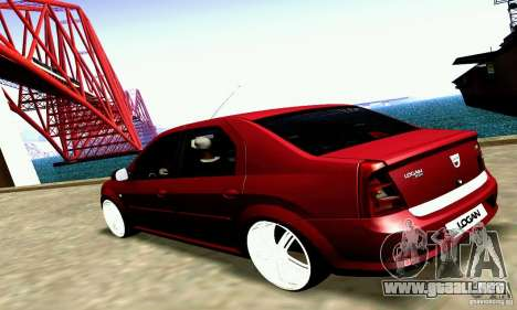Dacia Logan 2008 para la visión correcta GTA San Andreas