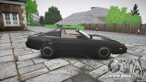 KITT Knight Rider para GTA 4 vista lateral