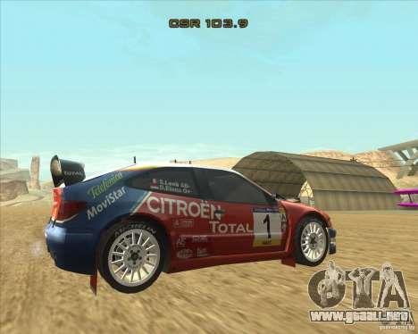 Citroen Xsara WRC para GTA San Andreas left