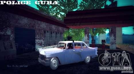 Policía de gas 13 Cuba para GTA San Andreas vista posterior izquierda
