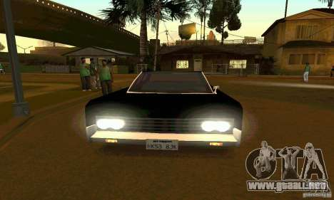 Lincoln Continental 1966 para la visión correcta GTA San Andreas