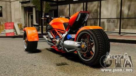 Ducati Diavel Reversetrike para GTA 4 Vista posterior izquierda