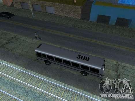 Prison Bus para GTA San Andreas vista hacia atrás