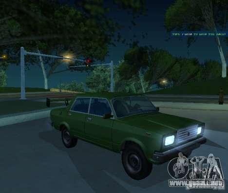 VAZ 2107 permite para GTA San Andreas