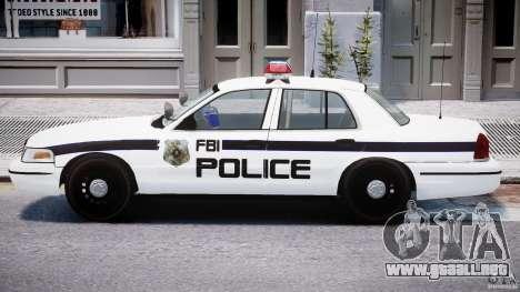 Ford Crown Victoria FBI Police 2003 para GTA 4 Vista posterior izquierda